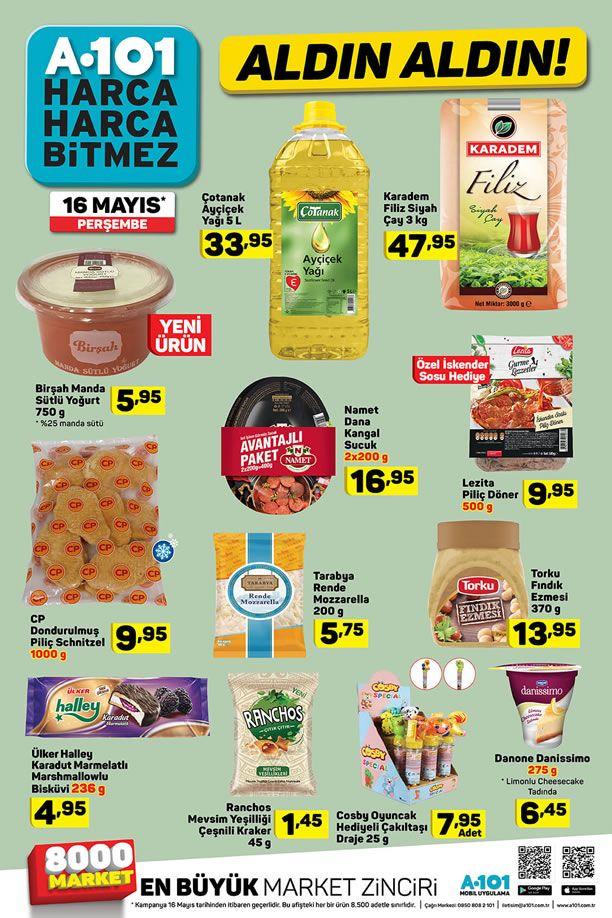A101 16 -22 Mayıs 2019 İndirimli Ürünler Kataloğu