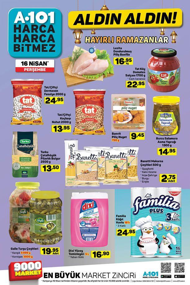 A101 16 - 22 Nisan 2020 İndirimli Ürünler Kataloğu