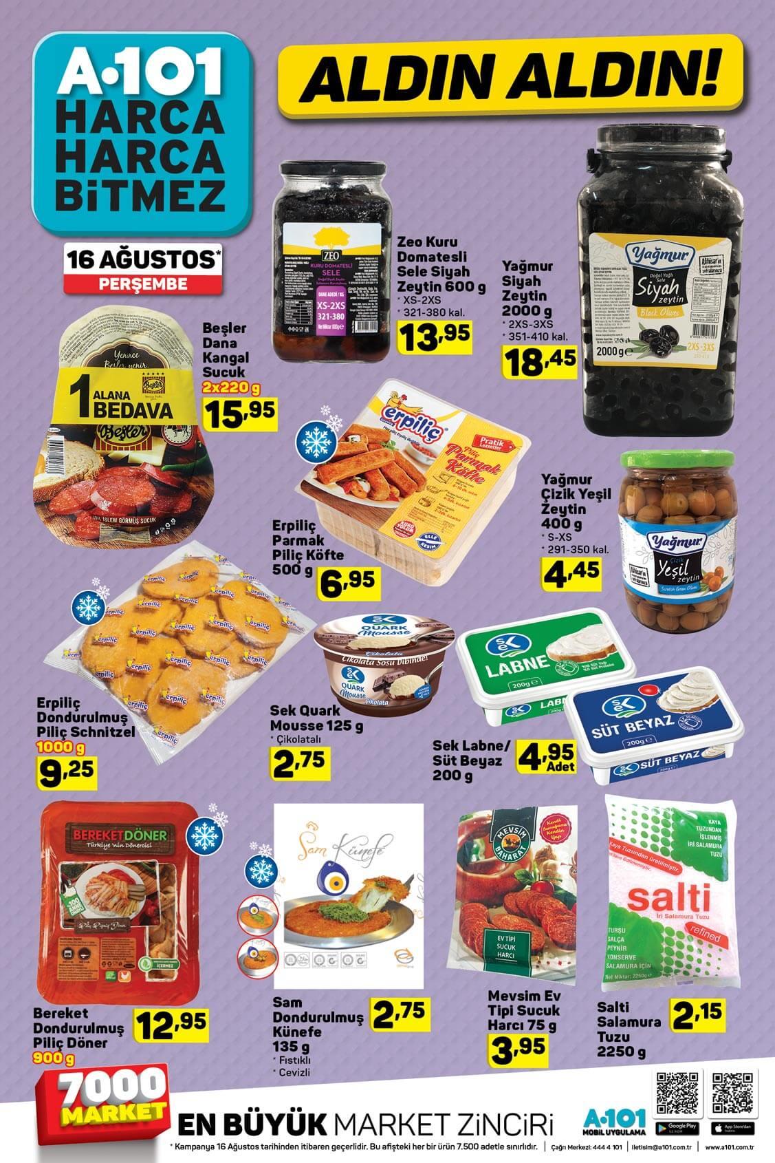 A101 16 Ağustos 2018 Fırsat Ürünleri Kataloğu