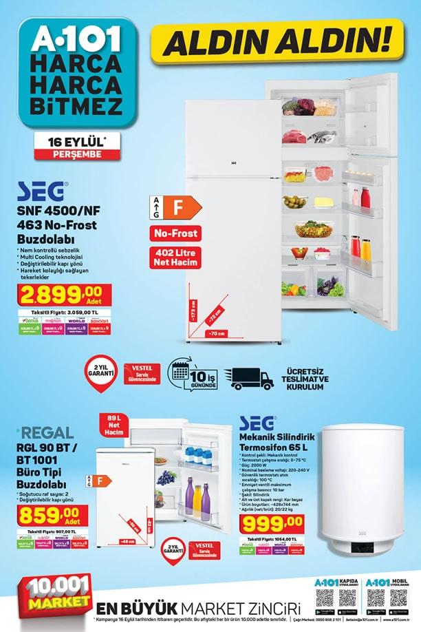 A101 16 Eylül 2021 Kataloğu - Regal Büro Tipi Buzdolabı
