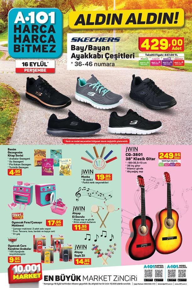 A101 16 Eylül 2021 Kataloğu - Skechers Bay Bayan Ayakkabı Çeşitleri