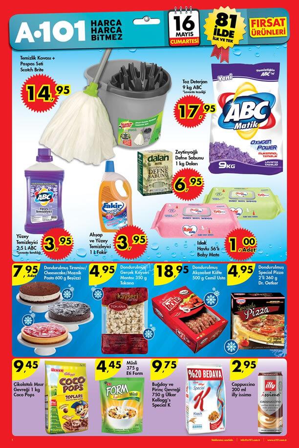 A101 16 Mayıs 2015 Cumartesi Fırsat Ürünleri Katalogu