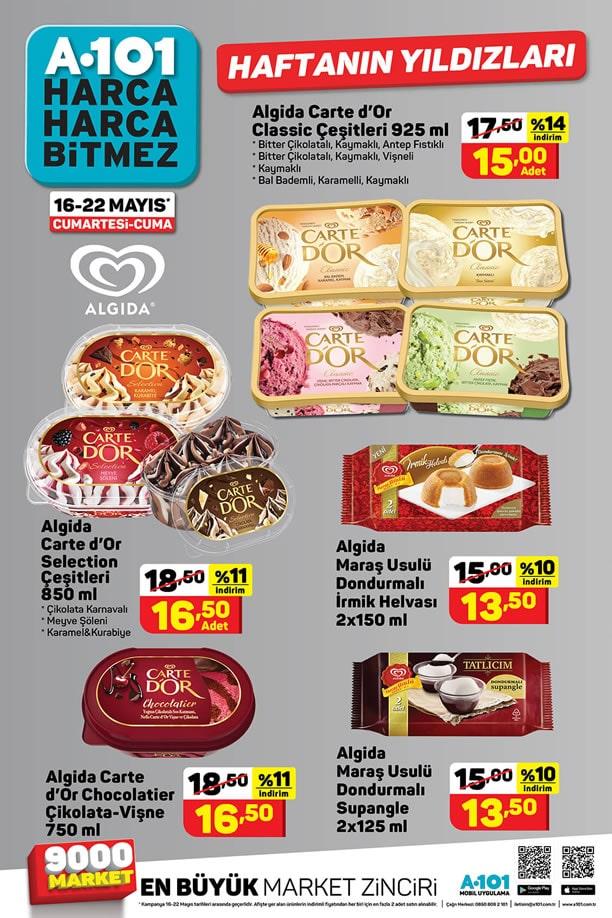 A101 16 Mayıs 2020 Haftanın Yıldızları Dondurma Fiyatları