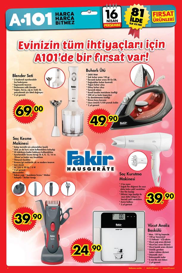 A101 16 Nisan 2015 Aktüel Ürünler Kataloğu - Fakir