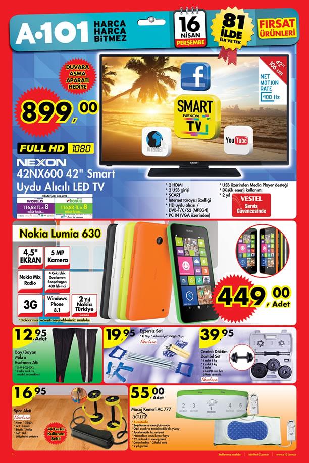 A101 16 Nisan 2015 Aktüel Ürünler Kataloğu - Nexon 42NX600 Led Tv