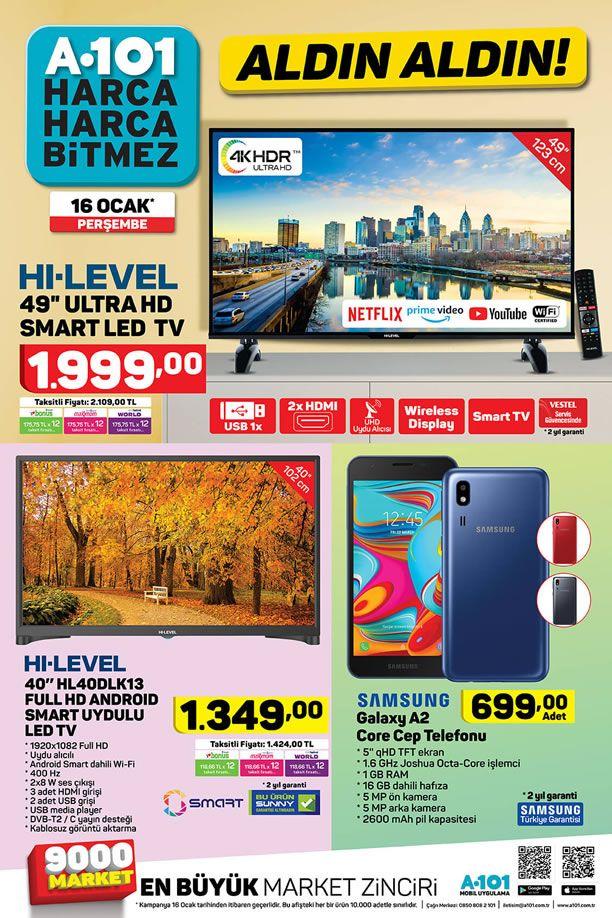 A101 16 Ocak 2020 Kataloğu - Samsung Galaxy A2 Core Cep Telefonu
