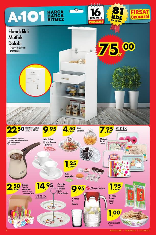 A101 16 Temmuz 2015 Aktüel Ürünler Katalogu - Mutfak Dolabı