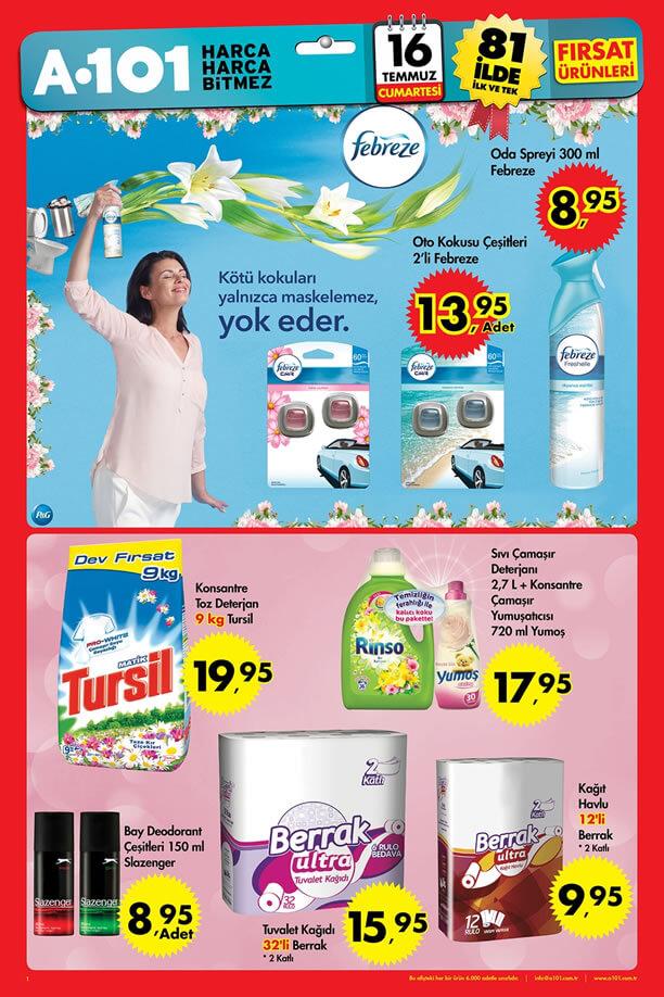 A101 16 Temmuz 2016 Aktüel Ürünler Katalogu - Febreze