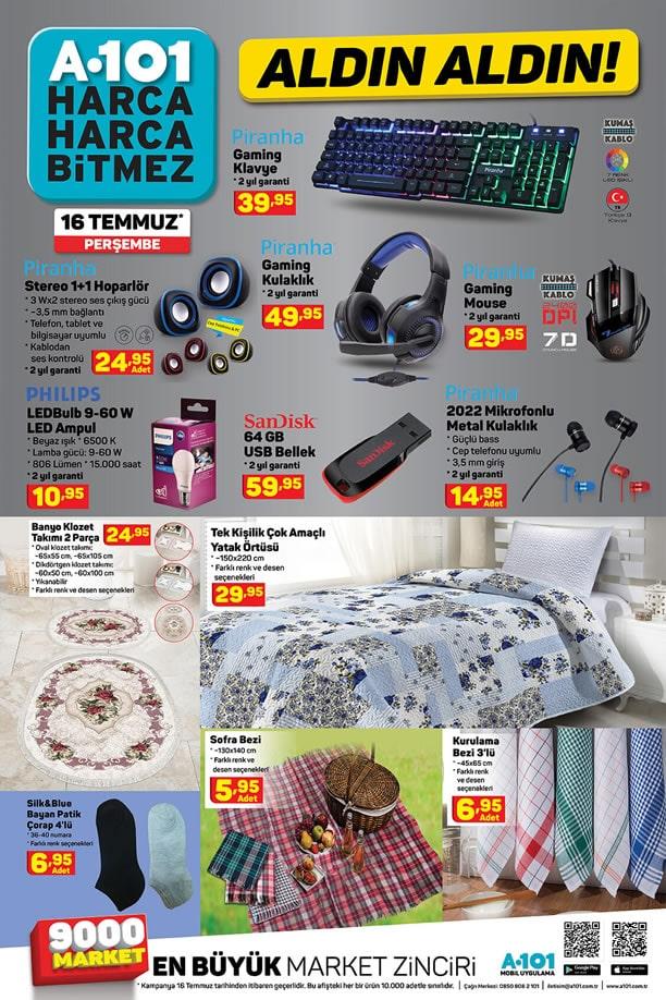 A101 16 Temmuz 2020 Aldın Aldın - Piranha Gaming Klavye