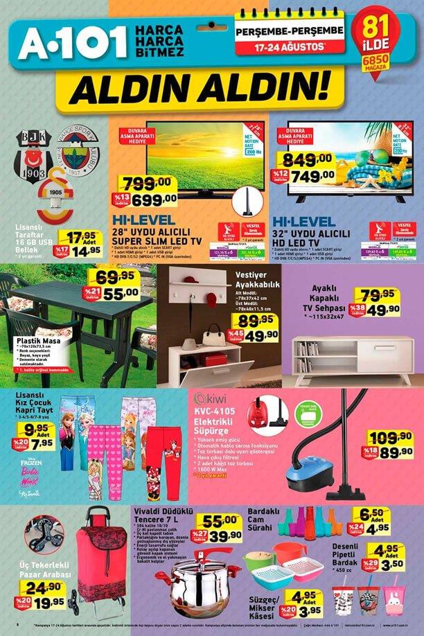 A101 17 Ağustos - 24 Ağustos Aktüel Ürünler