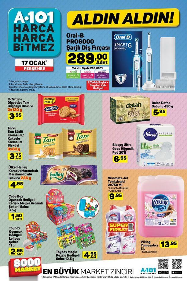 A101 17 Ocak 2019 Fırsatları - Oral-B PRO 6000 Şarjlı Diş Fırçası
