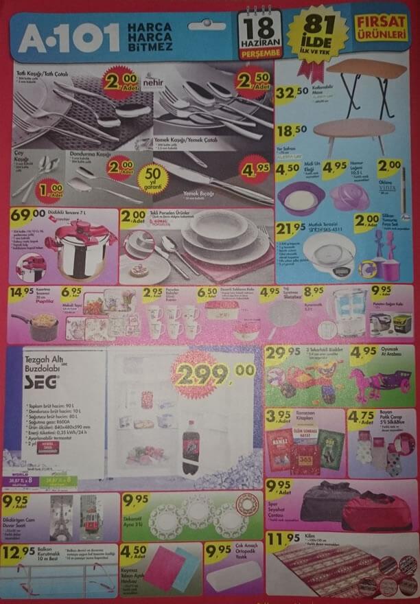 A101 18.06.2015 Aktüel Ürünler Katalogu - Tezgahaltı Buzdolabı