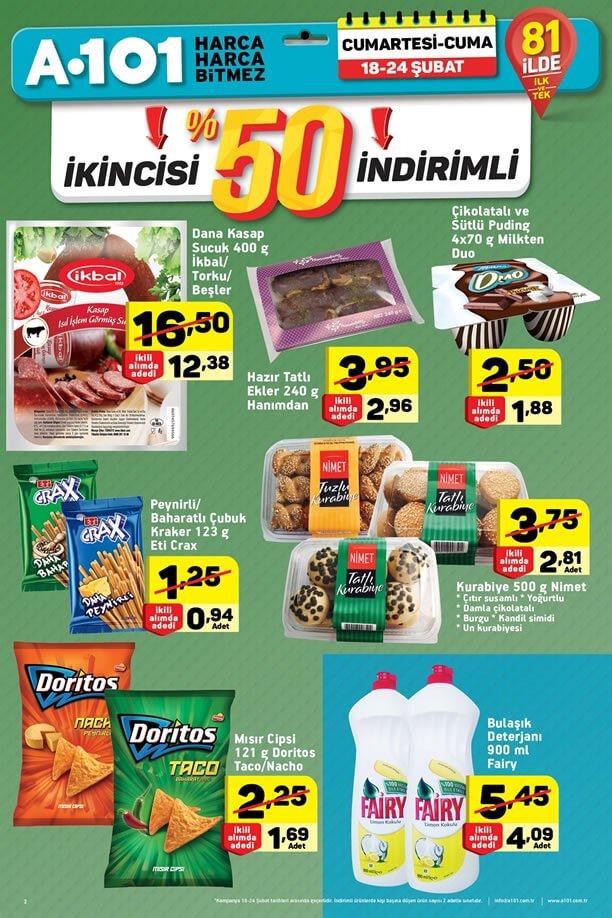 A101 18 - 24 Şubat 2017 Fırsat Ürünleri Katalogu - %50 İndirim