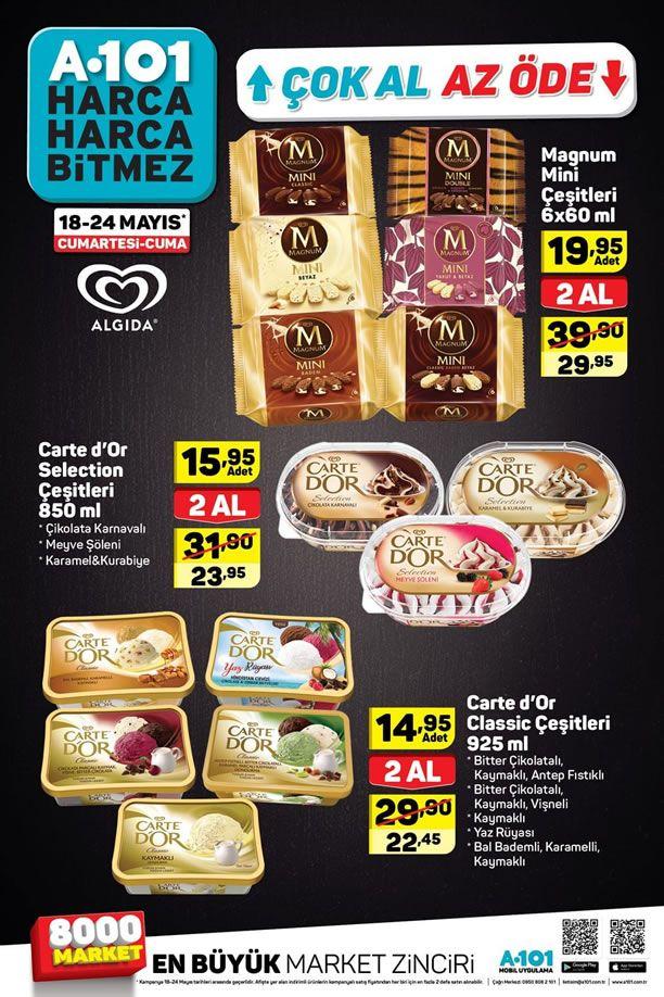 A101 18 Mayıs - 24 Mayıs 2019 Çok Al Az Öde Dondurma Kampanyası