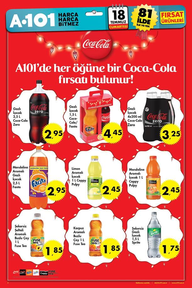 A101 18 Temmuz 2015 Aktüel Ürünler Katalogu - Coca Cola