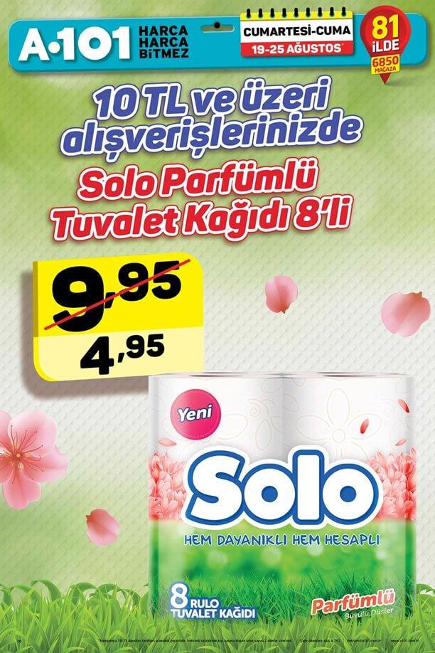 A101 19 - 25 Ağustos - Solo Parfümlü Tuvalet Kağıdı