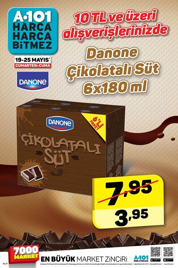 A101 19 - 25 Mayıs 2018 İndirim Kataloğu - Danone Çikolatalı Süt