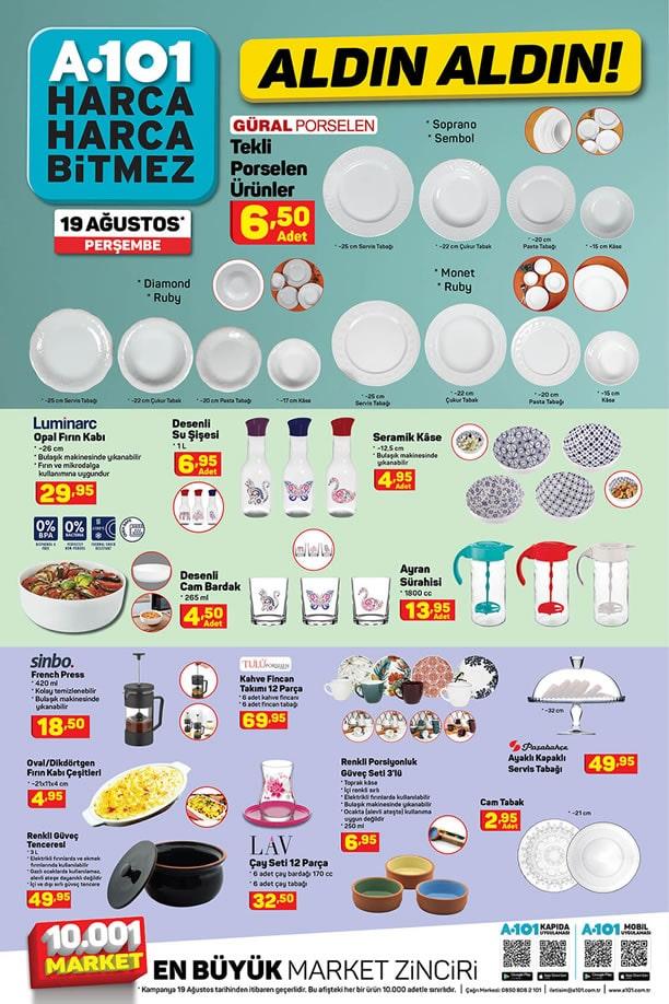 A101 19 Ağustos 2021 Aldın Aldın Kataloğu - Mutfak Ürünleri