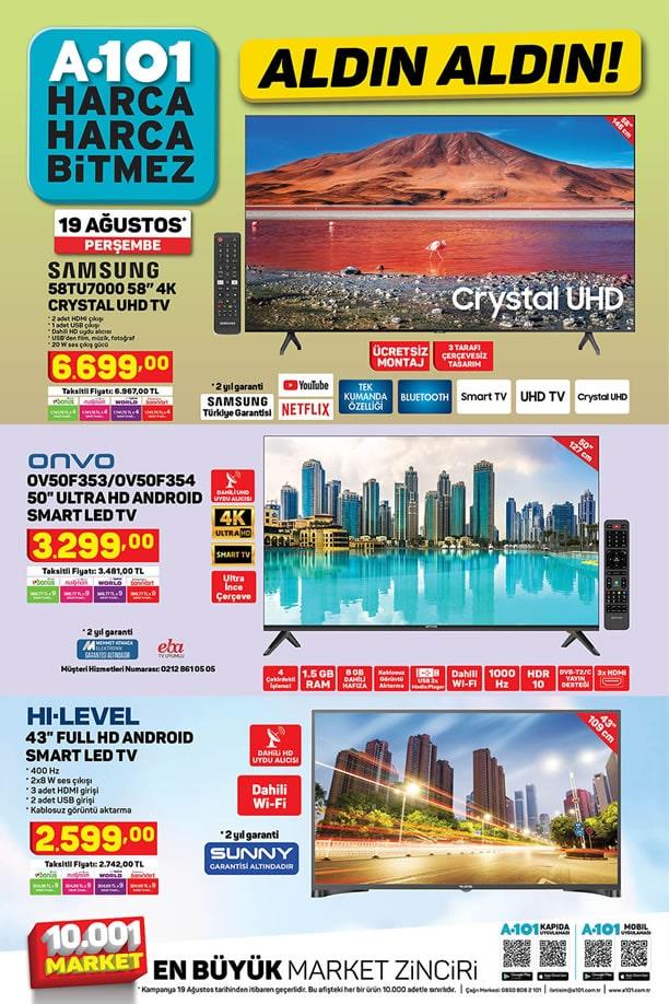 A101 19 Ağustos 2021 Kataloğu - Samsung 4K Crystal UHD Tv