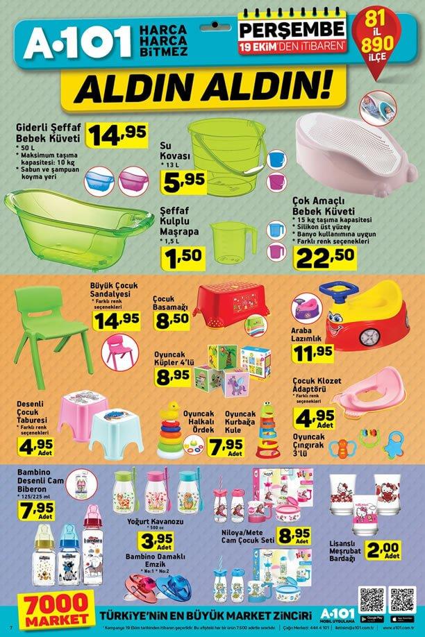 A101 19 Ekim 2017 Fırsatları - Bebek Ürünleri
