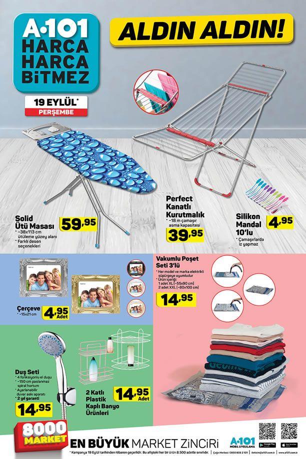 A101 19 Eylül 2019 Fırsatları - Ütü Masası - Çamaşır Kurutmalık