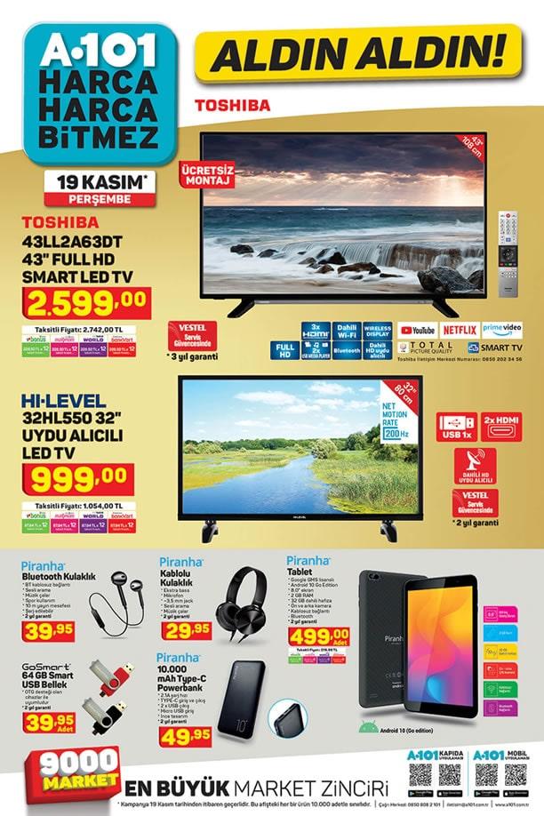 A101 19 Kasım 2020 Aktüel Kataloğu - Piranha Tablet