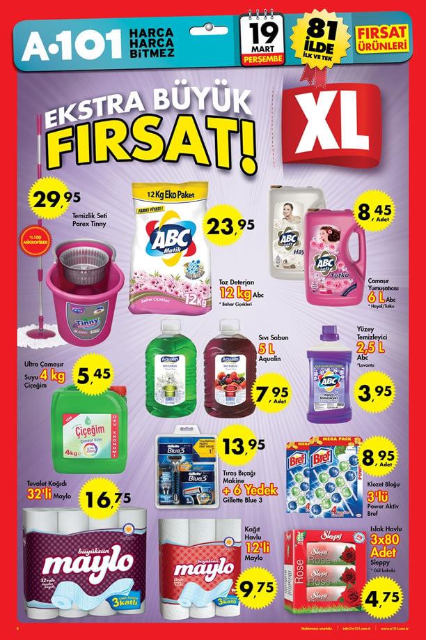 A101 19 Mart 2015 Aktüel Ürünler Kataloğu Ekstra Büyük Fırsat