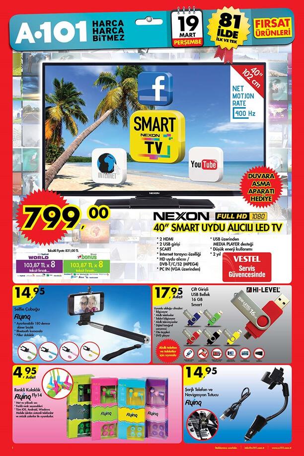 A101 19 Mart 2015 Aktüel Ürünler Kataloğu Yeni