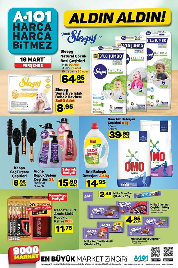 A101 19 Mart 2020 İndirimli Ürünler Kataloğu