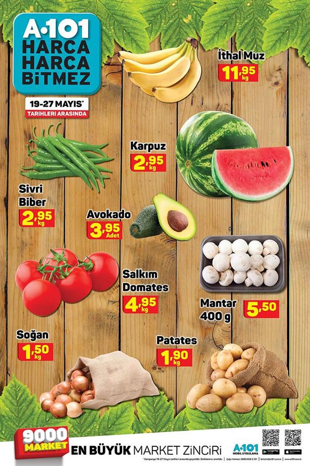 A101 19 Mayıs - 27 Mayıs 2020 Meyve Sebze Fiyatları