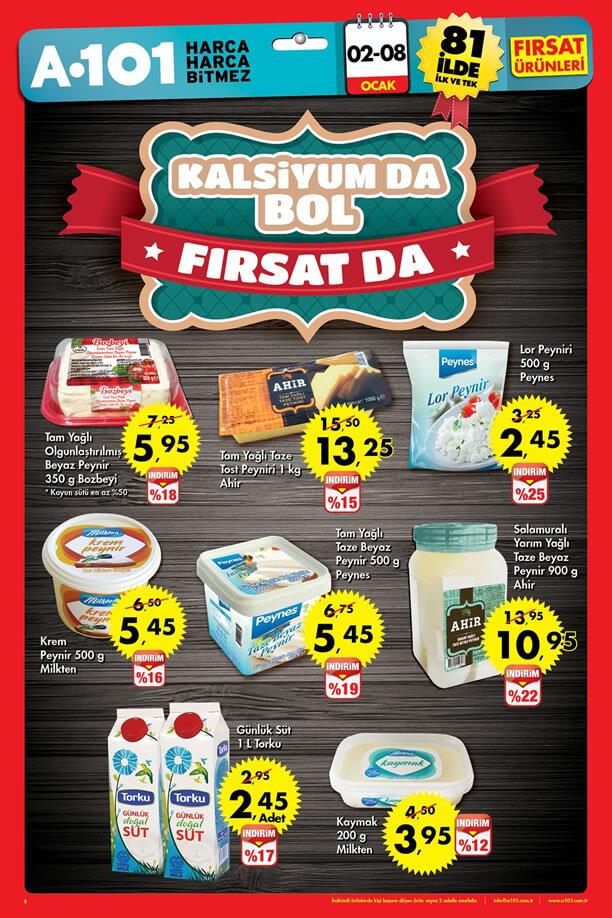 A101 2 - 8 Ocak 2017 Katalogu - Süt Ürünleri