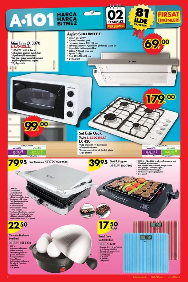 A101 2 - 9 Temmuz 2015 Aktüel Ürünler Katalogu - Luxell