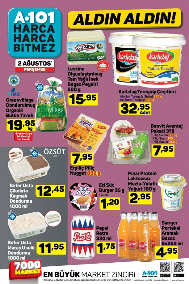 A101 2 Ağustos - 8 Ağustos 2018 Fırsat Ürünleri Kataloğu