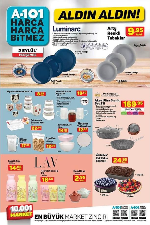 A101 2 Eylül 2021 Aktüel Kataloğu - Mutfak Ürünleri