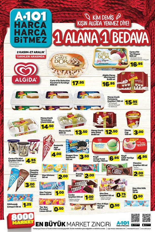 A101 (2 Kasım - 27 Aralık 2019) 1 Alana 1 Bedava Kampanyası