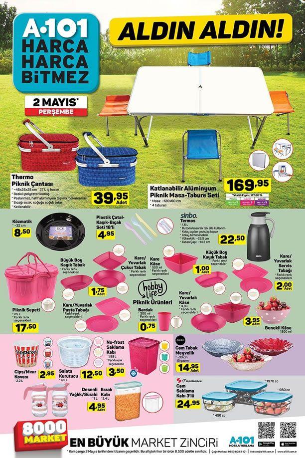 A101 2 Mayıs 2019 Aldın Aldın Kataloğu - Piknik Malzemeleri
