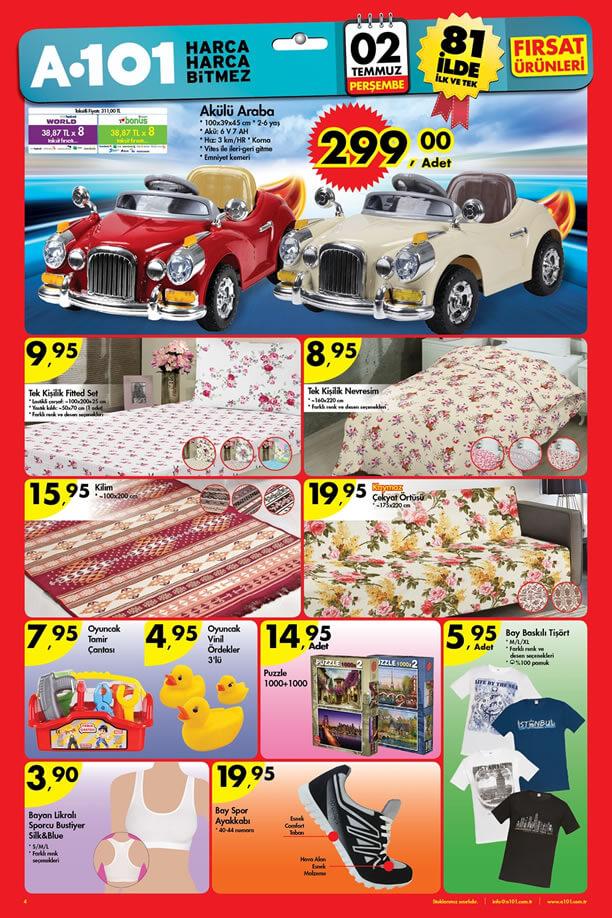 A101 2 Temmuz 2015 Aktüel Ürünler Katalogu - Akülü Araba