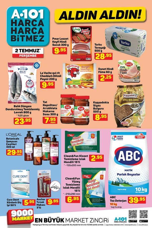 A101 2 Temmuz 2020 İndirimli Ürünler Kataloğu