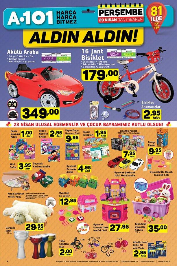 A101 20 Nisan 2017 Katalogu - Akülü Araba
