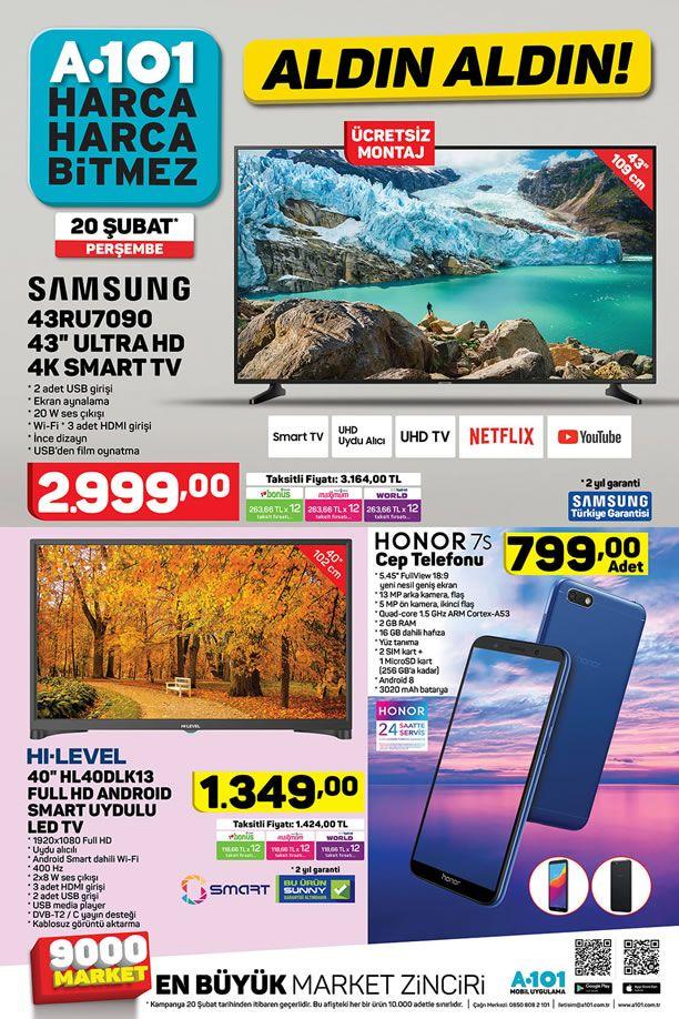A101 20 Şubat 2020 Aktüel Kataloğu - Honor 7S Cep Telefonu