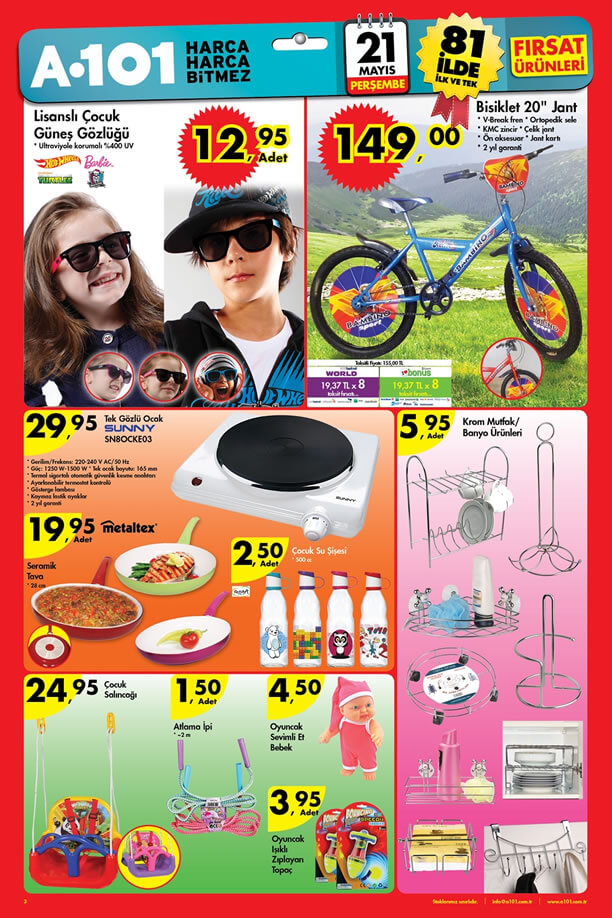 A101 21.05.2015 Perşembe Aktüel Ürünler Katalogu - Bambino Bisiklet