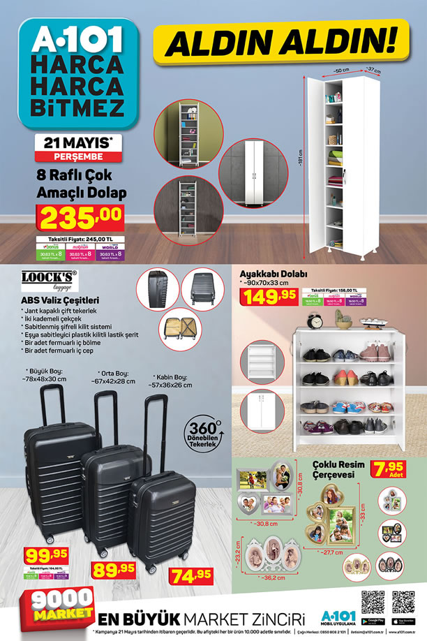 A101 21-27 Mayıs 2020 Aldın Aldın Fırsatları - ABS Valiz Çeşitleri
