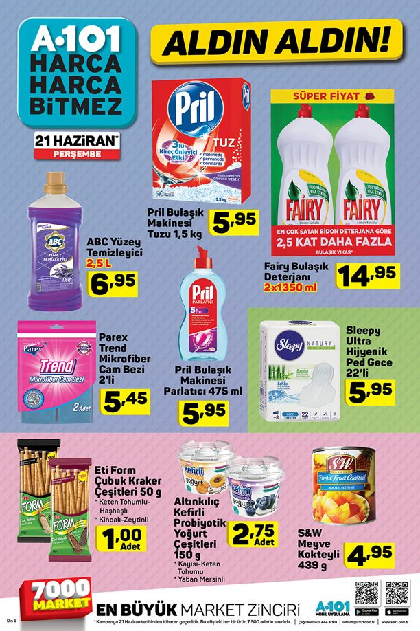 A101 21 Haziran 2018 Fırsatları - Temizlik Ürünleri Fiyatları
