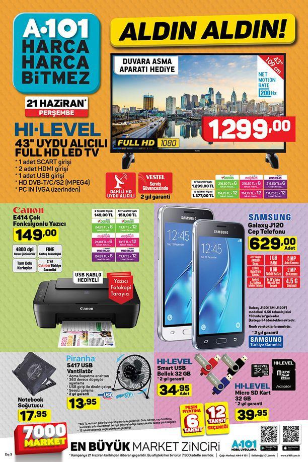 A101 21 Haziran 2018 Katalogu - Samsung Galaxy J120 Cep Telefonu