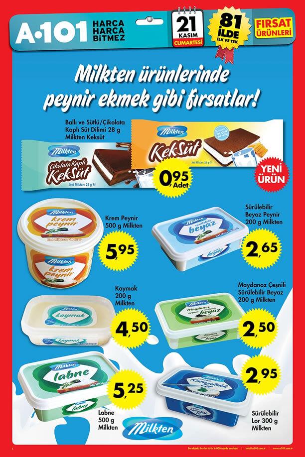 A101 21 Kasım 2015 Aktüel Ürünler Katalogu - Milkten