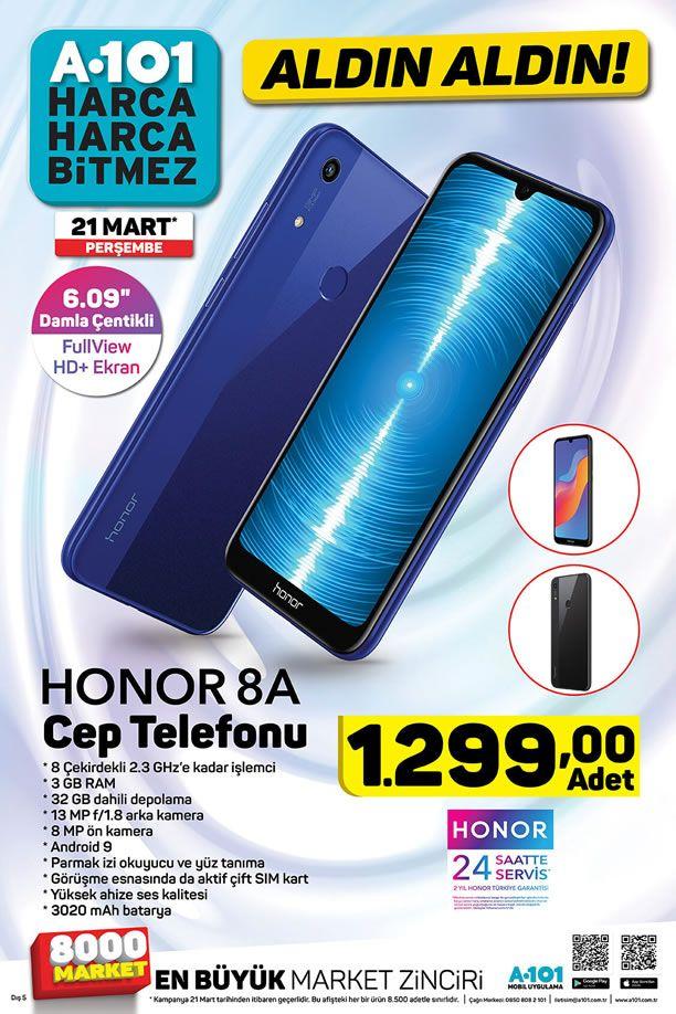 A101 21 Mart 2019 Kataloğu - Honor 8A Cep Telefonu