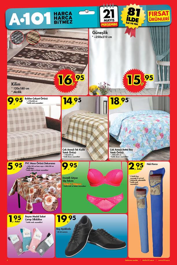 A101 21 Mayıs 2015 Aktüel Ürünler Katalogu - Ev Tekstili