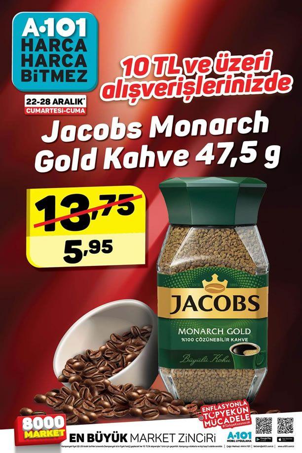 A101 22-28 Aralık 2018 İndirim Kataloğu - Jacobs Monarch Gold Kahve
