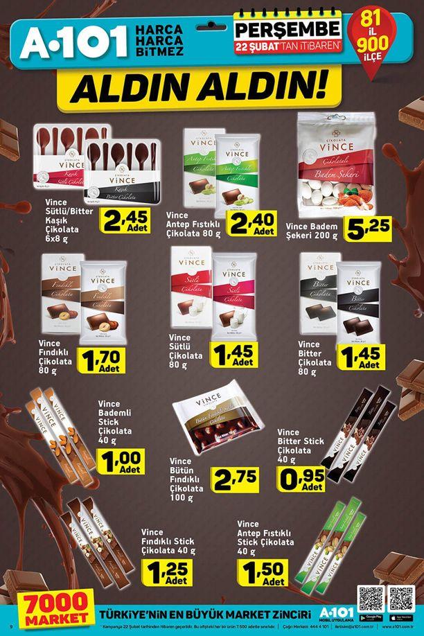 A101 22 - 28 Şubat 2018 İndirim Katalogu - Vince Çikolata