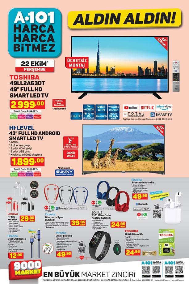 A101 22 Ekim 2020 Aktüel Kataloğu - Toshiba Smart Led Tv